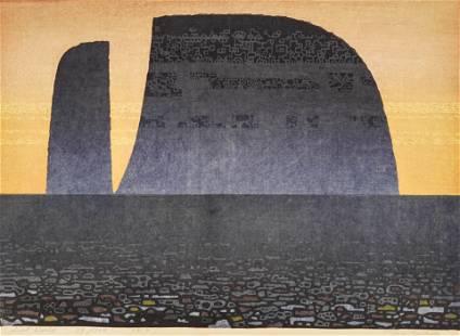 Toshi Yoshida ''Lost World'' 1964 Woodblock Print