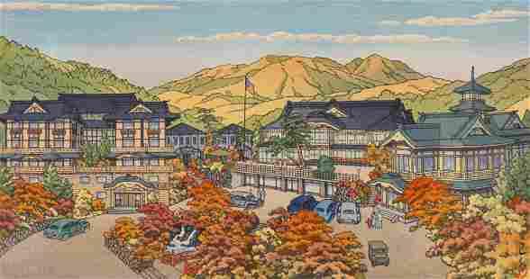Kawase Hasui ''Fujiya Hotel, Miyanoshita Japan''