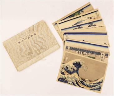 Katsushika Hokusai ''46 Views of Mt. Fuji'' Woodblock