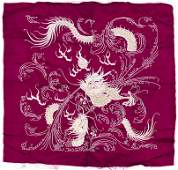 Chinese Dragon Silk Embroidered Panel 24x25