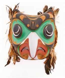 Tom Hunt (b.1964 Kwakwaka'wakw) Owl Mask 1991 Painted