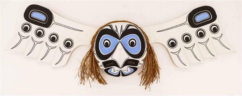 Jason Hunt (b.1973 Kwakwaka'wakw) Kwagiulth Owl Mask