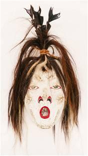 Barry Scow (b.1964 Kwakwaka'wakw) Ghost Mask Painted