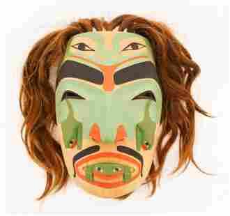 Vern Etzerza (b.1953 Tahltan) Crying Frog Mask 1991
