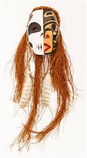 Sanford Williams (b.1967 Gitxsan) Split Face Mask