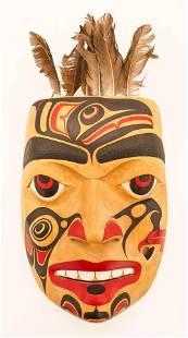 Don Yeomans (b.1958 Haida) Portrait Mask 1990 Painted