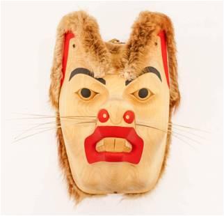 Isaac Tait (1965-2000 Nisga'a) Chipmunk Mask Carved