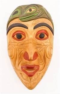 Floyd Joseph (b.1953 Salish) Frog Power Mask 1993