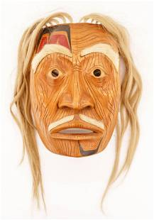 Glen Rabena (b.1953 Adopted Haida) Grandfather Portrait