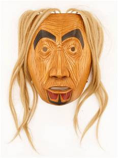 Glen Rabena (b.1953 Adopted Haida) Grandmother Portrait