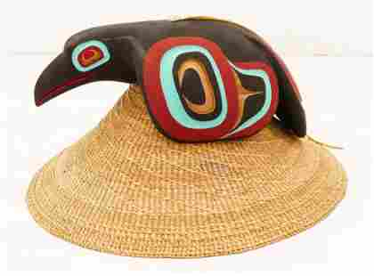 Clarence Peele Jr. (20/21st Cent. Haida) Raven Hat 2008