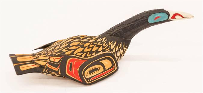 Terry Starr (b.1951 Tsimshian) Loon Rattle 1985 Painted