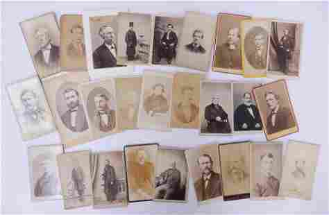 28pc CDV Photographs with Portraits of Gentlemen