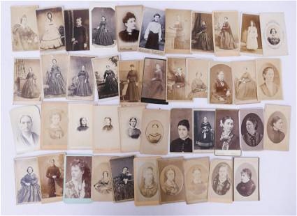 43pc CDV Photographs with Portraits of Women