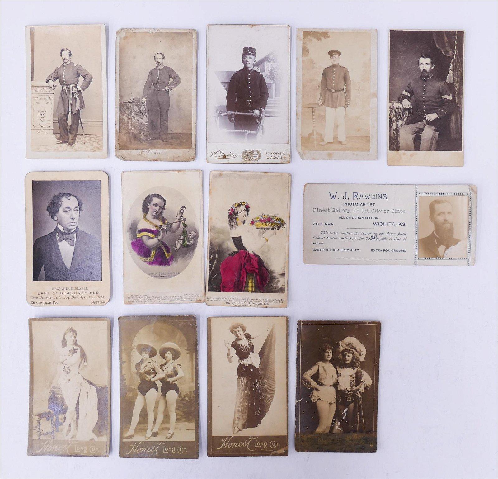 13pc CDV Photographs of Interest