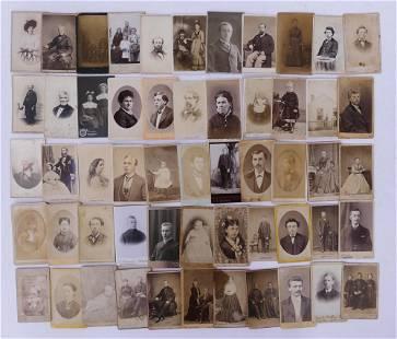 55pc Carte de Visite CDV Portrait Photographs