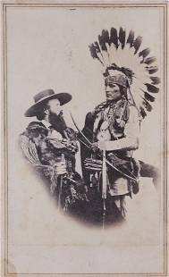 Colonel Edwin Perrin with Native CDV by E.&H.T. Anthony