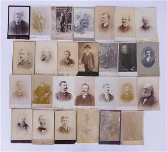 27pc Cabinet Card Portraits of Gentlemen