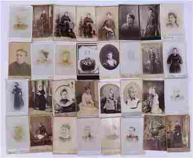 32pc Cabinet Card Portraits of Women