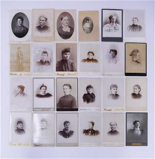 24pc Cabinet Card Portraits of Women