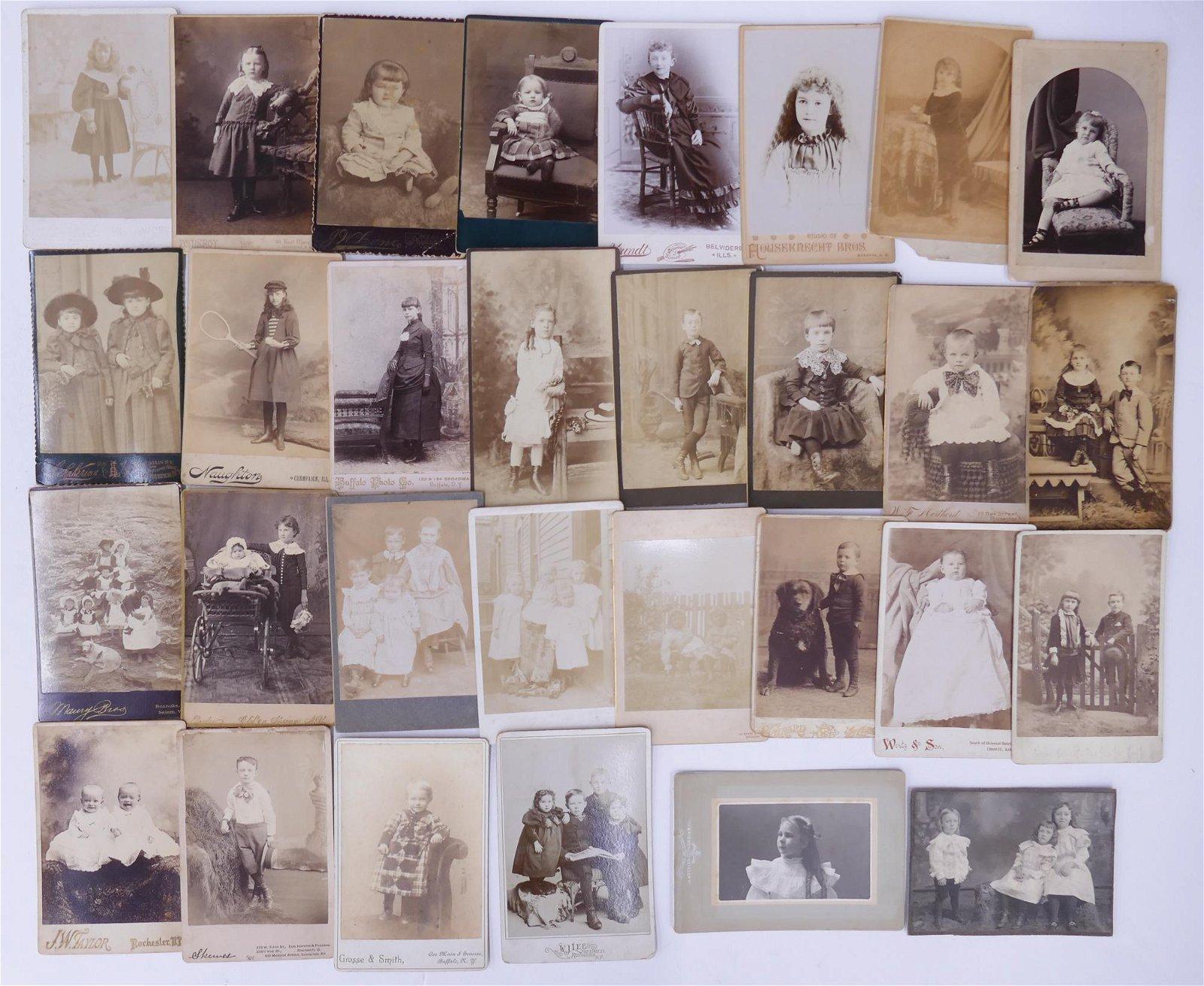 30pc Cabinet Card Portraits of Children