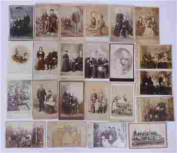 23pc Cabinet Card Portraits of Families
