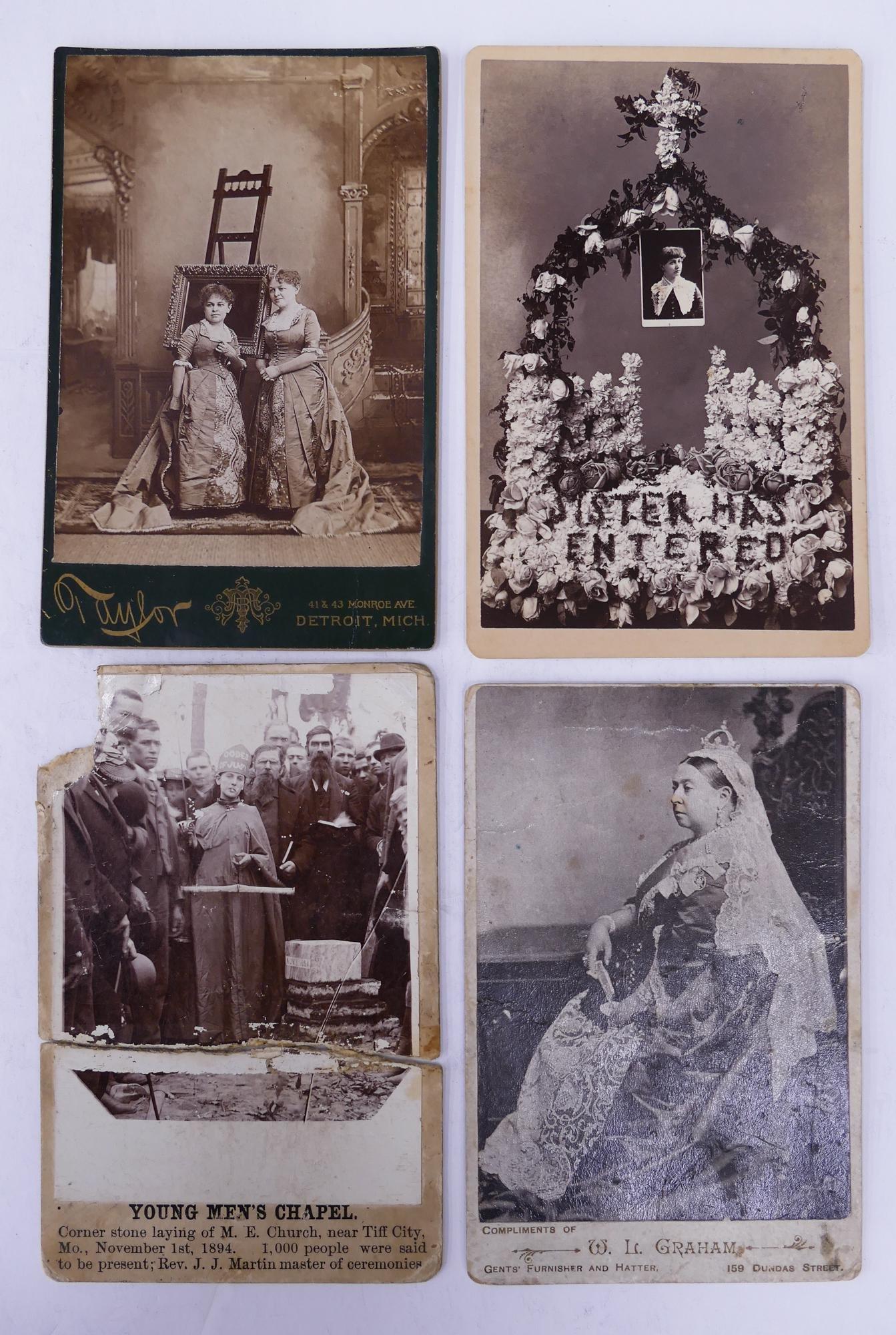 4pc Antique Cabinet Card Photographs of Interest