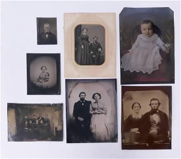 7pc Antique Tintype Photographs