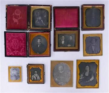 9pc Daguerreotype Photographs