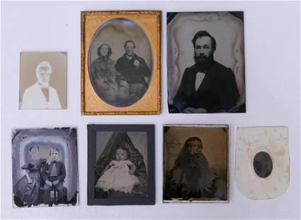 7pc Ambrotype Photographs