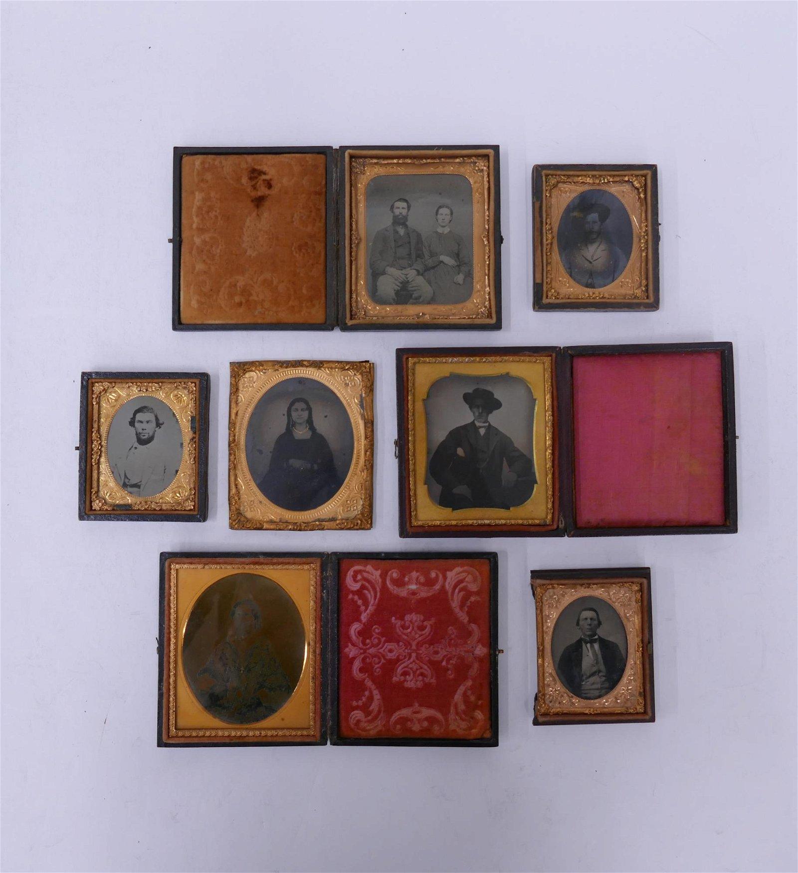 7pc Tintype Photographs