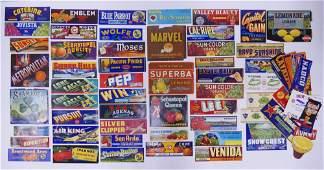 Vintage Unused Fruit Crate Labels