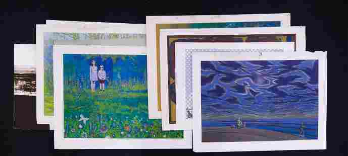 11pc Robert Randall Berkert Serigraphs