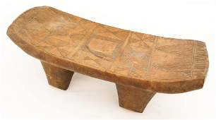 Antique Nupe African Carved Bench 6''x17''x6.5''