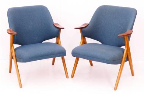Pair Rastad & Relling Norwegian ''Blinken'' Armchairs