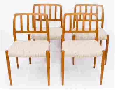 Set of Niels Moller Model 83 Teak Dining Chairs