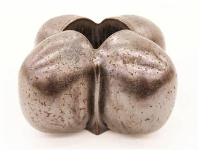 David Shaner ''X'' Pillow Pot Glazed Stoneware