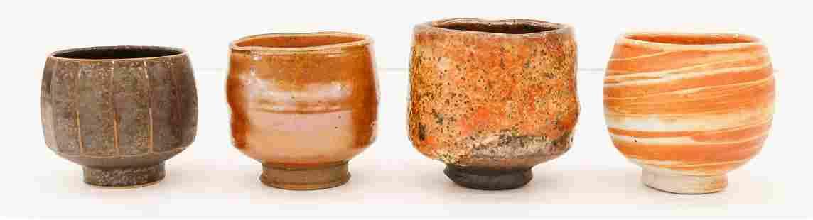 4pc David Shaner and Tom Coleman Chawan Tea Bowls