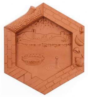 Richard Notkin ''Bray Tile'' 1995 Ceramic