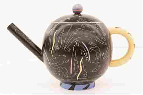 Beth Lo Floating Figures Teapot Porcelain