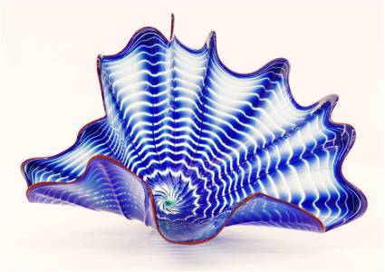 Dale Chihuly Cobalt Persian 1989 Blown Glass