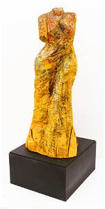 Jim Dine ''The Yellow Venus'' 1994-96 Wood Sculpture