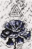 Richard Gilkey ''Blue Poppy with Penrose Triangle''