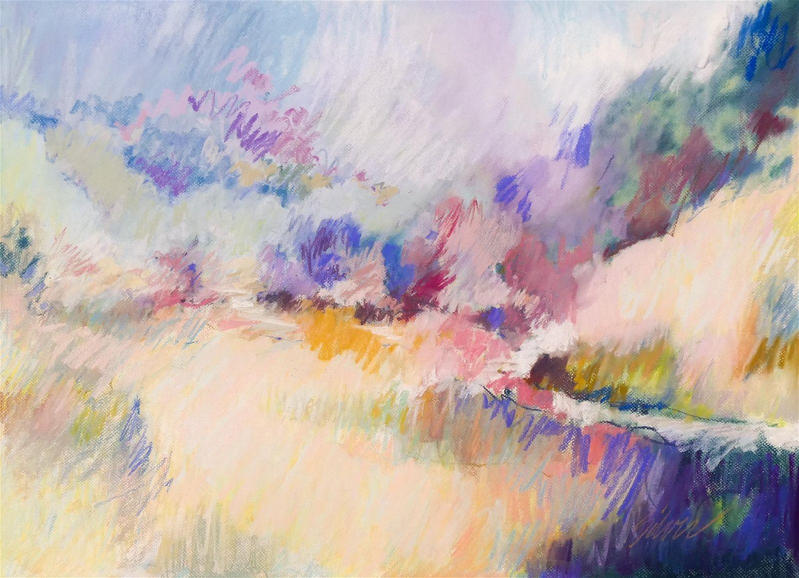 Lyle Silver ''Landscape'' Pastel on Paper