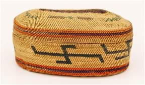 Old Nootka Makah Indian Treasure Basket