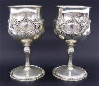 Pair Reed  Barton Francis I Sterling Goblets