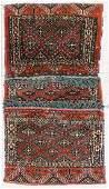 Semi Antique Turkmen Rug Saddle Bag