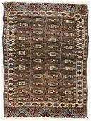 Antique Turkmen Bokhara Small Oriental Rug