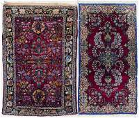 2pc Semi Antique Persian Small Scatter Rugs