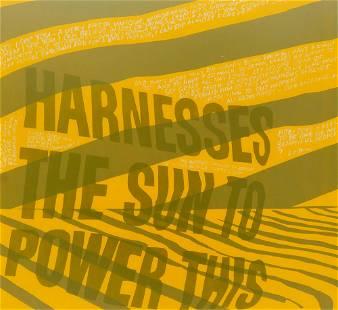 Corita Kent ''Harness the Sun'' 1967 Lithograph